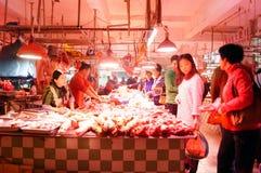 Shenzhen, China: Meat Market Royalty Free Stock Images