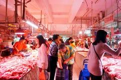 Shenzhen, China: Meat Market Stock Image