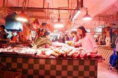 Shenzhen, China: Meat Market Stock Photo