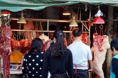 Shenzhen, China: Mercado de carne Fotografía de archivo libre de regalías
