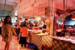 Shenzhen, China: Mercado de carne Imagen de archivo