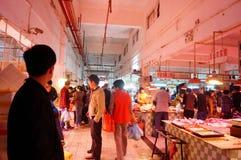 Shenzhen, China: Mercado de carne Fotografía de archivo