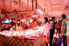 Shenzhen, China: Mercado de carne Imagen de archivo libre de regalías