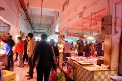 Shenzhen, China: Mercado de carne Fotos de archivo