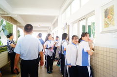 Shenzhen, China: middle school classroom Stock Photos