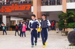 Shenzhen, China: Middle School Students Stock Photography