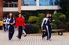 Shenzhen, China: Middle School Students Royalty Free Stock Image