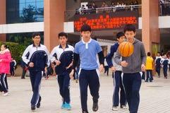 Shenzhen, China: Middle School Students Royalty Free Stock Photo