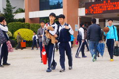 Shenzhen, China: Middle School Students Royalty Free Stock Images