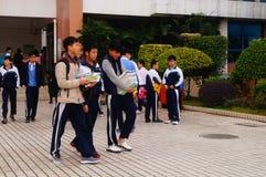 Shenzhen, China: Middle School Students Stock Image
