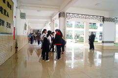 Shenzhen, China: Middle School Students Royalty Free Stock Photos