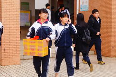 Shenzhen, China: Middle School Students Royalty Free Stock Photo