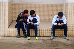 Shenzhen, China: Middle School Students Stock Image