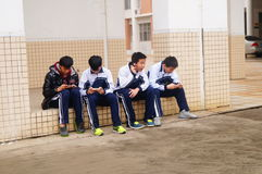Shenzhen, China: Middle School Students Royalty Free Stock Photography