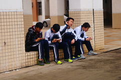 Shenzhen, China: Middle School Students Stock Images