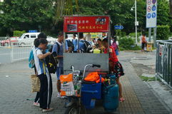 Shenzhen, China: middle school students go home on the way home Stock Photo