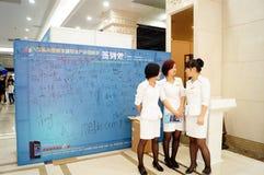 Shenzhen, China: mining machinery exhibition sales Stock Image