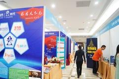 Shenzhen, China: mining machinery exhibition sales Royalty Free Stock Photography