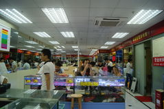 Shenzhen, China: mobile phone accessories stores Stock Photo