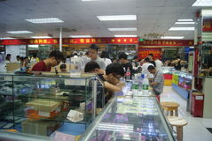Shenzhen, China: mobile phone accessories stores Stock Photos