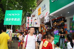 Shenzhen, China: mobile phone store promotions Stock Images