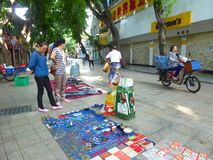 Shenzhen, China: morning roadside stalls Royalty Free Stock Image