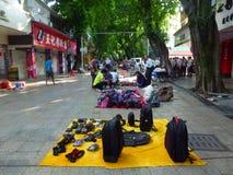 Shenzhen, China: morning roadside stalls Royalty Free Stock Images
