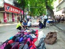 Shenzhen, China: morning roadside stalls Stock Images