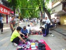 Shenzhen, China: morning roadside stalls Royalty Free Stock Photography