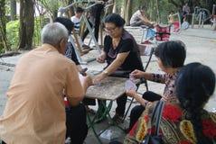 Shenzhen, China: naipes Imagen de archivo libre de regalías