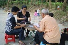 Shenzhen, China: naipes Foto de archivo libre de regalías