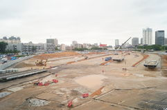 Shenzhen, China: Nantou customs renovation project construction site Stock Images