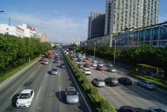 Shenzhen, China: 107 National Road Stock Photo