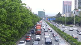Shenzhen, China: 107 National Road car landscape Royalty Free Stock Photo