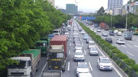Shenzhen, China: 107 National Road car landscape Royalty Free Stock Photos