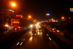 Shenzhen, china: 107 national road night landscape Royalty Free Stock Photos