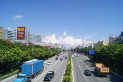 Shenzhen, China: 107 National Road Traffic landscape Stock Photography