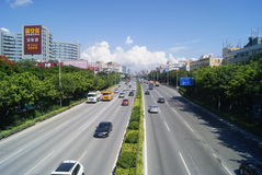 Shenzhen, China: 107 National Road Traffic landscape Royalty Free Stock Image