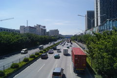 Shenzhen, China: 107 National Road Traffic landscape Stock Photos