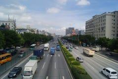 Shenzhen, China: 107 National Road Traffic landscape Stock Image