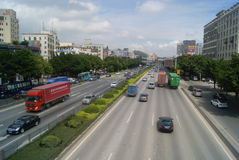 Shenzhen, China: 107 National Road Traffic landscape Royalty Free Stock Photography