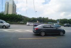 Shenzhen, China: 107 National Road Traffic landscape Royalty Free Stock Image