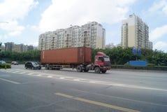 Shenzhen, China: 107 National Road Traffic landscape Stock Photo