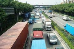 Shenzhen, China: 107 National Road Traffic landscape Stock Photography