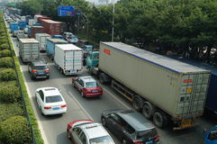 Shenzhen, China: 107 National Road Traffic landscape Royalty Free Stock Images