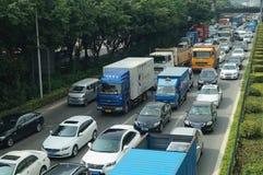 Shenzhen, China: 107 National Road Traffic landscape Royalty Free Stock Photo
