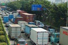 Shenzhen, China: 107 National Road Traffic landscape Royalty Free Stock Images