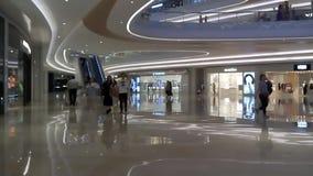 Shenzhen, China: Night Shopping Center indoor landscape stock video