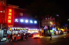 Shenzhen, China: night street scene Stock Image