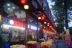 Shenzhen, China: the night under the China Restaurant Royalty Free Stock Photography